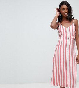 Read more about Glamorous tall midi cami dress in stripe - red white stripe