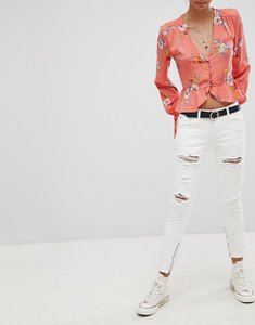 Read more about Glamorous ripped skinny jeans - white
