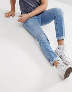 Read more about Diesel thommer tapered jeans in light wash blue - light wash