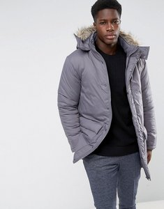 Read more about French connection parka with faux fur hood - grey