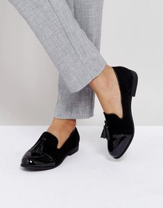 Read more about Truffle collection tassle loafers - black mf patent mix