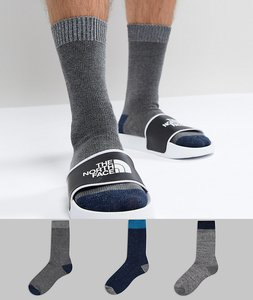Read more about Asos socks in random feed design with contrast heel toes 3 pack - multi