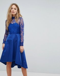 Read more about Y a s lace dress with open back - blue