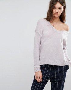 Read more about Gestuz oba v-neck mohair wool blend jumper - lavender blue