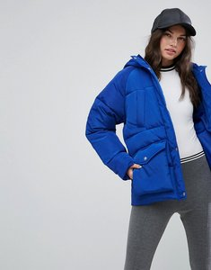 Read more about Asos puffer jacket with pocket detail - blue