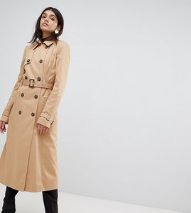 Read more about Asos tall longline classic mac - stone