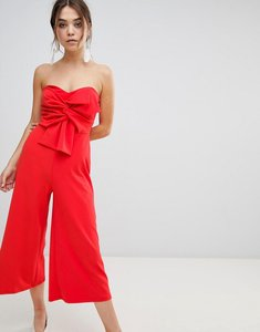 Read more about New look bow front strapless jumpsuit - bright red