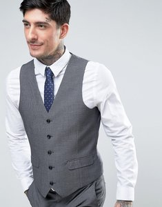 Read more about Harry brown slim fit birds eye waistcoat - grey