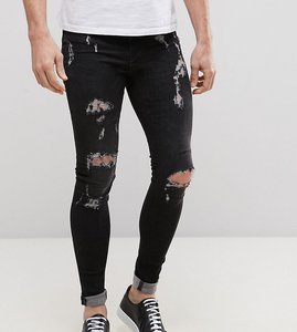 blend flurry extreme skinny fit jeans rip and repair bk1