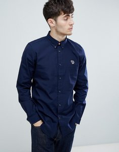 Read more about Ps paul smith tailored fit zebra logo oxford shirt in navy - navy