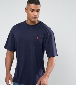 Read more about Polo ralph lauren tall crew neck t-shirt with logo in navy - ink