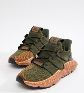 Read more about Adidas originals prophere trainers in khaki and copper - green