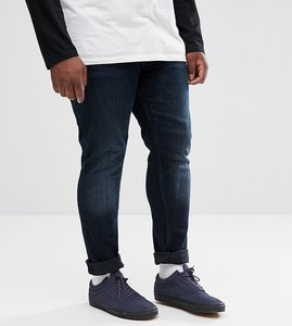 Read more about Asos plus super skinny jeans in blue black wash - dark wash blue