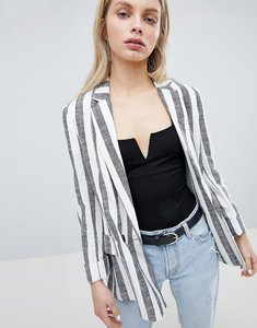 Read more about Bershka stripe linen blazer - multi