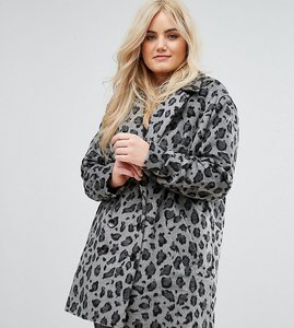 Read more about Alice you smart coat in monochrome leopard print - grey leopard