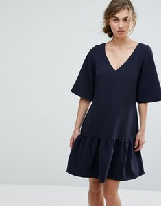 Read more about Closet london drop waist mini dress - navy