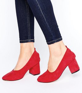 Read more about Asos simone wide fit heels - red