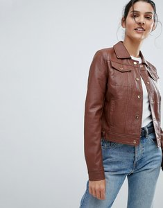 Read more about Urbancode trucker jacket in leather look - tan