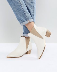 Read more about Office azalea white leather ankle boots - white