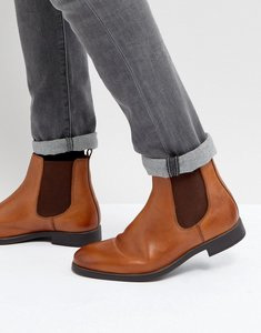 Read more about Dune chelsea boots in tan leather - tan