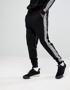 Read more about Asos drop crotch joggers with reflective tape - black
