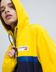 Read more about New balance colourblock windbreaker jacket in yellow - yellow