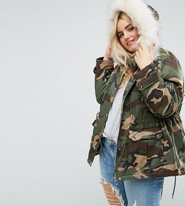 Read more about Asos curve ultimate camo parka - multi