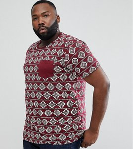 Read more about Brave soul plus all over aztec print t-shirt - red