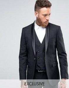 Read more about Farah slim fit arnos tux suit jacket - black