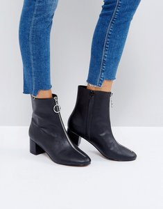 Read more about Asos romy zip heeled boots - black