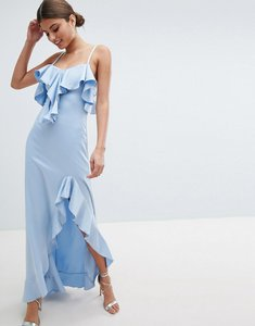 Read more about Jessica wright cold shoulder maxi dress with frill detail side slit