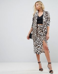 Read more about Asos tailored mix match pencil skirt in animal print - multi