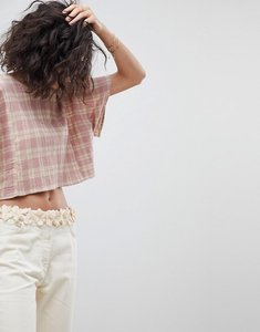 Read more about Intropia cropped prairie top - pink print