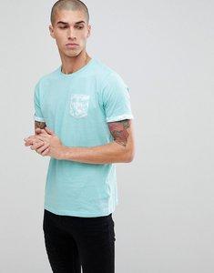 Read more about Brave soul palm tree pocket t-shirt - blue
