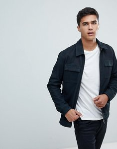 Read more about Selected homme nubuck premium leather jacket - dark navy