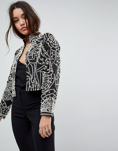 Read more about Asos pearl embellishment jacket - multi
