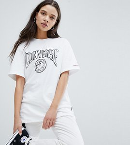 Read more about Converse star chevron world logo t shirt in white - white