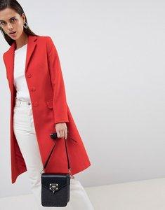 Read more about Helene berman longline wool cashmere blend college coat - orange