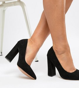 Read more about Asos design wide fit palmer pointed high heels - black