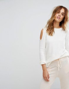 Read more about Micha lounge cold shoulder jumper - cream