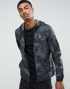 Read more about Hollister windbreaker jacket jersey lined in black camo - black camo