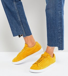 Read more about Nike blazer low mustard suede trainers - yellow