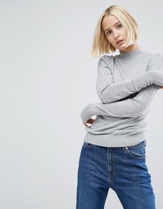 Read more about Asos jumper with turtle neck in soft yarn - grey