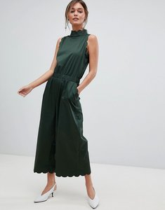 Read more about Ted baker high neck scalloped jumpsuit - dk green
