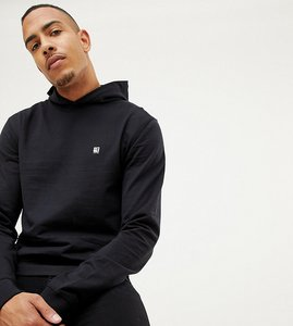 Read more about Replika tall pullover hoodie in black