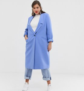 Read more about Asos design curve coat with dropped collar