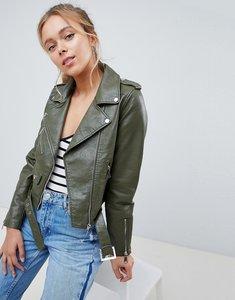 Read more about Parisian faux leather jacket - khaki