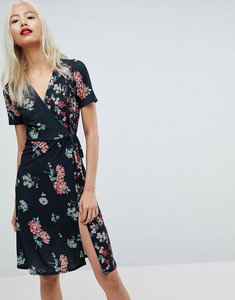 Read more about Asos midi wrap dress in mixed floral print - floral print