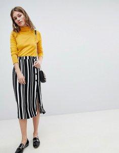 Read more about Bershka midi skirt in multi stripe - multi
