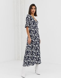 Read more about Ax paris long sleeve floral dress in blue